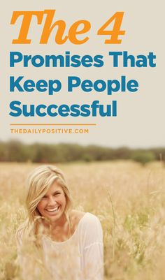 The 4 Promises That Keep People Successful