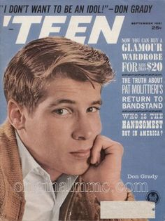 Don Grady 1944-2012 Original Mouseketeer and Oldest of the Three Sons. Not to mention one of the first boys to make girls swoon in the 60's! May he RIP.