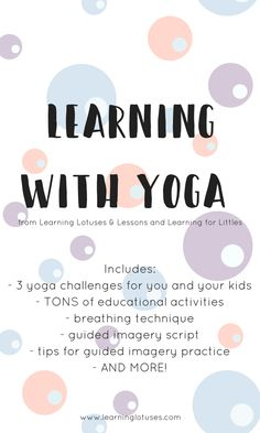 Learning with yoga!