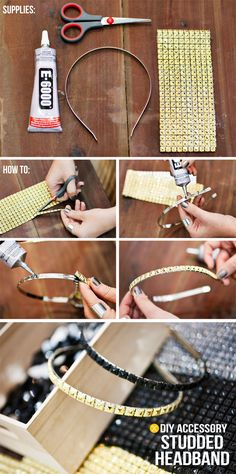 DIY Studded Headband-17 Inspirational DIY Projects With Studs And Spikes