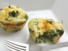 Broccoli And Cheese Mini Egg Omelets - Low Carb Recipes