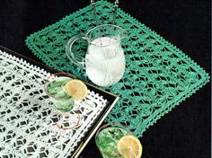 PDF Vintage Summer Doily Crochet Pattern 1950s Twilleys Broomstick Lace Crochet, Crochet Motif, Knit Crochet, Home Decor Sets, Retro Home Decor, Lace Doilies, Crochet Doilies, Vintage Crafts, Tutorials