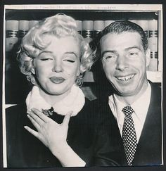 Marilyn Monroe Joe DiMaggio Wedding Photo♥