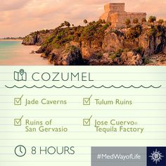 Sail to Cozumel with MSC Cruises, discover special packages and excursions to explore beautiful places in Mexico. Jack Daniels Distillery Tour, Tulum Ruins, Msc Cruises, Ancient Mesopotamia, Cruise Destinations, Craft Cocktails, Big Island, Caribbean, Beautiful Places