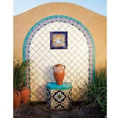 Spanish Style Water Fountains Fresh Ideas 4 Wall Fountain With Lights Using Mexican Tiles By, spanish style water fountain, spanish style water fountains, spanish style water fountains outdoor. Added by Admin on August 2017 at Libreria Fountains Spanish Colonial Decor, Spanish Style Homes, Spanish Revival, Exterior Tiles, Interior Exterior, Exterior Design, Outdoor Wall Fountains, Garden Fountains, Water Fountains