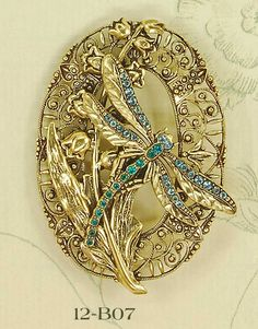 #Gold #Dragonfly #Brooch #Pins #Jewellery
