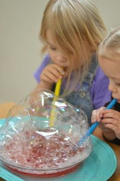 Kool-aid Bubbles Recipe- my kids played for hours!