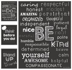 Be Kind Classroom Posters - Collection Free Classroom Posters - Teach Junkie