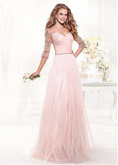 Chic Tulle Sweetheart Neckline A-line Evening Dress