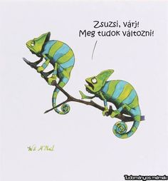 Funny Animal Comics, Funny Animals, Just For Fun, Watercolor Illustration, Funny Moments, I Laughed, Dinosaur Stuffed Animal, Jokes, Lol