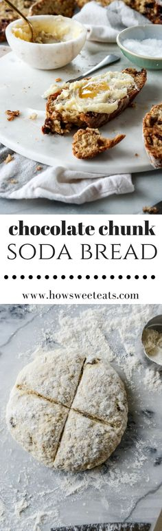 Irish Soda Bread with Dark Chocolate and Salted Honey Butter I howsweeteats.com @howsweeteats