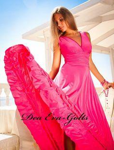 """Платье Селена http://tagbrand.com/pz/963319 Летнее Платье""""Selena Summer"""" в пол и сборкой на талии. Цвет """"Фуксия"""" Заказ http://vk.com/design.studio.ateya Цена - 5500 рублей Ткань Масло"""