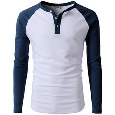 H2H Mens Casual Slim Fit Raglan Baseball Three-Quarter Sleeve Henley... (€10) ❤ liked on Polyvore featuring men's fashion, men's clothing, men's shirts, men's t-shirts, mens henley t shirt, mens baseball shirts, mens slim shirts, mens three quarter sleeve shirts and mens t shirts #menst-shirtscasual