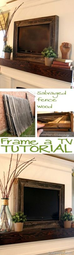 DIY Frame a TV tutorial by PoisonPriincess