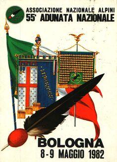CARTOLINA ALPINI BOLOGNA 1982 ADUNATA NAZIONALE