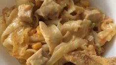 This creamy and cheesy casserole is a great way to use up any leftover roast pork or pork chops. Be creative! Mix and match your favorite veggies for variety. Pork Roast Recipes, Fish Recipes, Recipies, Pasta Recipes, Yummy Recipes, Yummy Food, Noodle Casserole, Casserole Recipes, Leftover Pork Chops