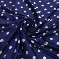 71a7a1fe3 Tecido satim toque de seda azul estado poá branco - Maximus Tecidos | Loja…