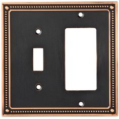 Franklin Brass Classic Beaded Single Switch Decorator Wall Plate Finish: Bronze/Copper