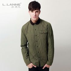 Men's clothing autumn outerwear male fashion army retro finishing shirt type wadded jacket male casual outerwear