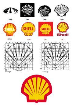 Shell logo process sketch