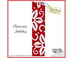 Peyote Pattern for bracelet Mmmm Jazzy   by VikisBeadingPatterns, $6.50