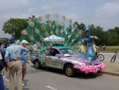 same peacock car but with its feathers spread out...