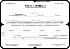 Soccer football certificate certified certificates pinterest a share certificate template is a document which is issued to the shareholders for certifying his ownership in business shares this certificate is signed yelopaper Image collections
