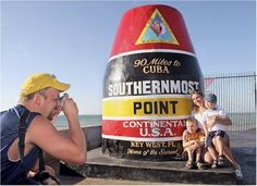 Visit the Southernmost Point in the Continental US. Not only are there a ton of fun things to do in Key West, you can also drive over the famous Seven-Mile Bridge to get there.