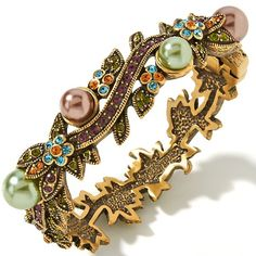 Heidi Daus Vine and Divine Crystal-Accented Bangle Br