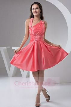 Buy asymmetrical neck watermelon short dama dress for wholesale from sweet dama dresses collection, neckline a line in watermelon red color,cheap taffeta dress with side zipper back and for prom sweet 16 quinceanera . Taffeta Bridesmaid Dress, Summer Bridesmaid Dresses, Knee Length Bridesmaid Dresses, Taffeta Dress, Bridesmaids, Sexy Homecoming Dresses, Prom Dress 2014, Girls Pageant Dresses, Dresses 2014
