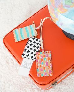 If travel is in your future, make these customized DIY Leather Luggage tags using the Cricut Explore to do all the hard work.