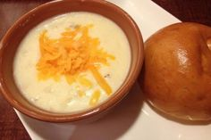 Slow Cooker Cheesy Potato Soup - One Word: YUM! www.GetCrocked.com