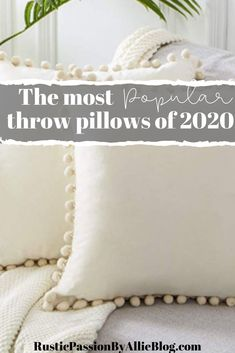 These Farmhouse Pillows are gorgeous and so cheap! You can decorate your dream home with these neutral throw pillows for your living room. Best Pillow, Perfect Pillow, Farmhouse Kitchen Island, Farmhouse Bed, Kitchen Islands, Vintage Farmhouse, Farmhouse Decor, Dream Master Bedroom, Master Bedrooms