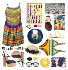 """""""Have a Wonderful Summer...."""" by sue-mes ❤ liked on Polyvore featuring Sophie Anderson, Hello Darling, Giuseppe Zanotti, kiini, Kate Spade, Nordstrom Rack, Tory Burch, Illesteva, Dsquared2 and Givenchy"""