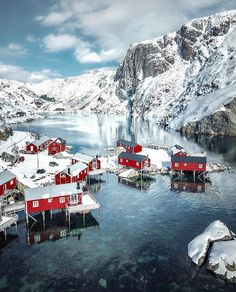 10 Stunning Photos of the Lofoten Island located in Norway. Explore through our travel guide for best places to visit in the city & find nearby hotels. Places Around The World, The Places Youll Go, Places To Visit, Wonderful Places, Beautiful Places, Village Photos, Destination Voyage, Best Places To Travel, Travel Abroad