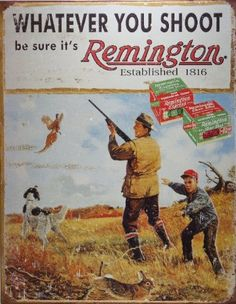 Remington Whatever You Shoot Rifle Hunting Distressed Retro Vintage Tin Sign by Poster Revolution