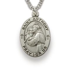 St. Anthony, Patron of Lost Articles, Sterling Silver Medal http://www.truefaithjewelry.com/sm8835sh.html