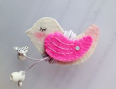 Pink Wing Bird Earphones Winder - V1 from Lily's Handmade - Desire 2 Handmade Gifts, Bags, Charms, Pouches, Cases, Purses by DaWanda.com