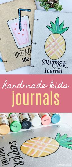 DIY Journals - Kids Will Love These Handmade Journals for Summer - Super easy to make DIY project - Sponsored by Testors craft paints.