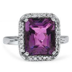 THE LIZVETH RING - 14K white gold, Amethyst & diamonds $2,750