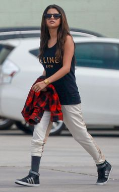 The actress and pop star arrives at a dance studio in Burbank, Calif. March 3, 2014