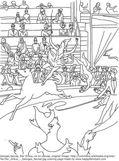 1000 images about art appreciation seurat on pinterest for Seurat coloring pages
