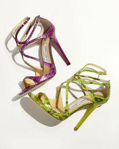 Jimmy Choo Lance Curvy Water Snake Sandal, Orchid Spring 2013 € 892 #JimmyChoo #Shoes #Choos