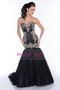 2016 Prom Dresses Mermaid/Trumpet Sweetheart Sleeveless Sweep/Brush Train (<30cm) With Beading/Sequins Black