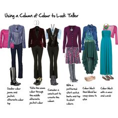 Using a column of colour to look taller