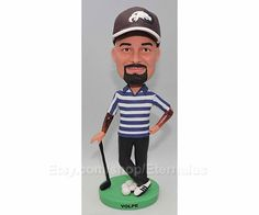 Custom Bobblehead - Golf Gift, Personalized Golf Gift, golf gifts for men, Personalized Gifts for Dad, fathers Day Gift, Gift for Daddy   About products ****************************************************** All doll are 100% made of different colors of polymer clay which is the finest in the world by handcrafted. I never use paint, resin or moulds although most doll suppliers use them. I am not saying my doll are perfect (sometimes my fingerprints may be left on them) , but I am sure they…