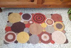 Tapete de croche barbante geometrico terroso 0.82 x 0.52cm -2011102
