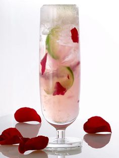 Coming Up Roses  3 slices lime  3 rose petals  1/2 oz. rose syrup  5 drops of rose water  2 oz. Bacardi Razz  2 oz. Moët & Chandon White Star  Put the first four ingredients in a mixing glass, then muddle them. Pour the Moët & Chandon in a highball. Add Bacardi Razz and ice into the shaker with the muddled fruit, shake, and pour into the glass with the Champagne. Coming up Roses was created by Junior Merino and is available at Rayuela, Peter Pioppo, Macondo, and Studio P.   - MarieClaire.com