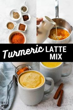 Turmeric Milk, Blended Drinks, Turmeric Recipes, Tasty Vegetarian Recipes, Golden Milk, What's For Breakfast, Edible Gifts, Spice Mixes, Winter Food