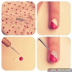 Para que tu uñas quedes super cute ! Los paso a paso
